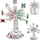 Symboler av Kwanzaa royaltyfri illustrationer