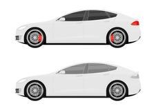 Symboler av moderna bilar vektor illustrationer