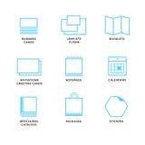Symboler av olikt tryckmassmedia Arkivfoton