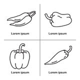 Symboler av peppar Royaltyfria Bilder