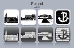 Symboler av Polen stock illustrationer