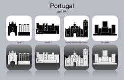 Symboler av Portugal vektor illustrationer