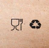 Symboler av restaurangen och återvinning Royaltyfri Bild