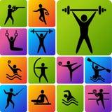 Symboler av sportar Arkivbild