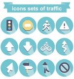 Symboler av trafik Royaltyfria Bilder