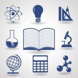 Symboler av utbildning Arkivfoton