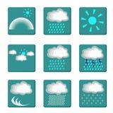 Symboler av väder Arkivfoto