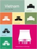 Symboler av Vietnam stock illustrationer