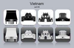 Symboler av Vietnam royaltyfri illustrationer