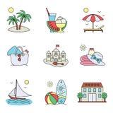 Symboler av vilar och havet Fotografering för Bildbyråer