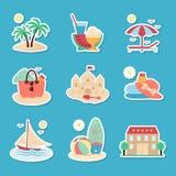 Symboler av vilar och havet Royaltyfri Bild