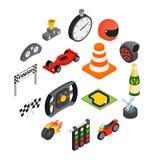 Symboler 3d för springa för bil isometriska vektor illustrationer