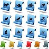 symboler daltar scrollen Arkivbild