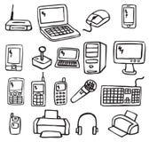 Symboler - elektronik 3 Arkivfoto