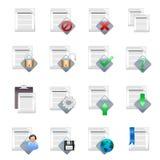 symboler för 1 förlaga v Arkivbild