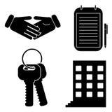 Symboler för affär Arkivbilder