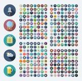Symboler för affär, teknologi, industriellt, mat och drinkar royaltyfri illustrationer