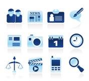 symboler för affärsdator site rengöringsduk Arkivbild