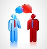 Symboler för affärskonversationStick Arkivfoto