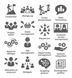 Symboler för affärsledning Packe 02 Arkivbilder