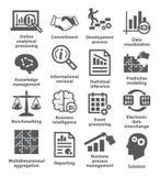Symboler för affärsledning Packe 04 Arkivbild