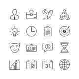 Symboler för affärsledning - vektorillustrationen, linjen symboler ställde in Arkivbilder