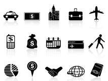Symboler för affärslopp royaltyfri illustrationer