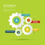 Symboler för affärsteamworkbegrepp med kugghjulillustrationen Fotografering för Bildbyråer
