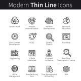 Symboler för affärstillväxt- eller startutveckling vektor illustrationer