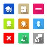 symboler för ai-affär cs2 eps inkluderar Royaltyfria Bilder
