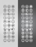 symboler för ai-affär cs2 eps inkluderar Arkivbilder