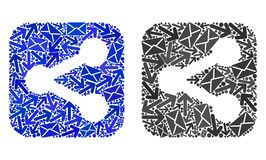 Symboler för aktie för stolpeleveranscollage royaltyfri illustrationer