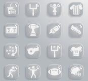 Symboler för amerikansk fotboll enkelt Arkivfoton