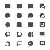 Symboler för anförandebubblalägenhet Arkivfoto