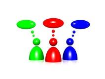 symboler för askcommenthuman Royaltyfri Fotografi