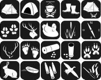 Symboler för att jaga Arkivfoto