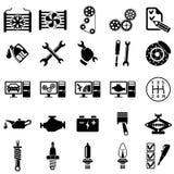 Symboler för auto reparation Royaltyfri Bild
