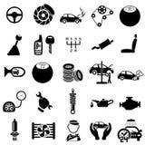 Symboler för auto reparation Fotografering för Bildbyråer