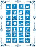 Symboler för baby med hjärtfeltematecknad film Royaltyfri Bild