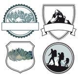 Symboler för bergklättring Royaltyfri Fotografi