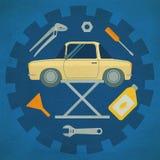 Symboler för bilreparationsservice Arkivfoto