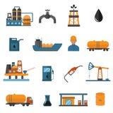 Symboler för bransch för olje- gas fabriks- för infographic vektor illustrationer
