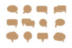 Symboler för bubbla för anförande för textballongvektor Royaltyfri Fotografi