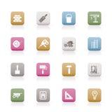symboler för byggnadskonstruktion Royaltyfri Fotografi