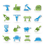 symboler för byggnadskonstruktion Arkivfoto