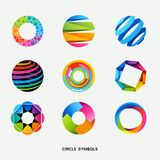 symboler för cirkelsamlingsdesign Royaltyfri Fotografi