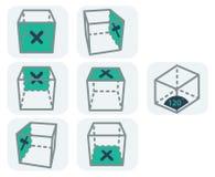 Symboler för 3d vektor illustrationer