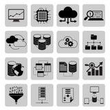 Symboler för dataanalys stock illustrationer
