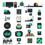 Symboler för datoraffär Arkivbilder