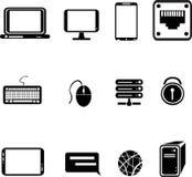 symboler för datorutrustning Royaltyfri Bild